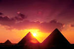 pyramids at sunrise/sunset